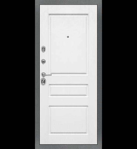 """Входная металлическая дверь """"МД-47"""" (ясень графит/белый матовый)"""