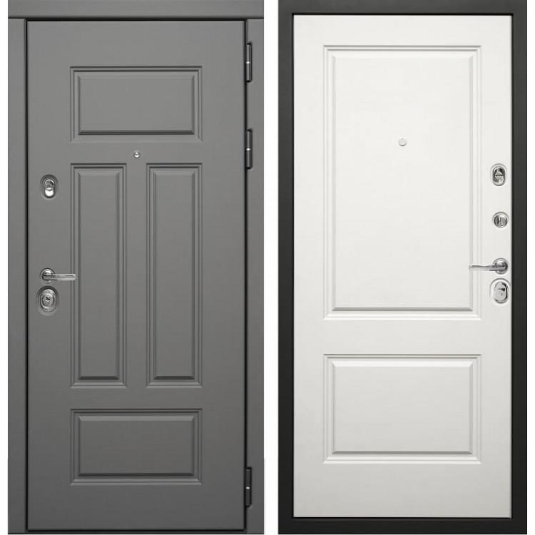 Входная металлическая дверь Сударь Дива МД 47 ясень графит / белый матовый