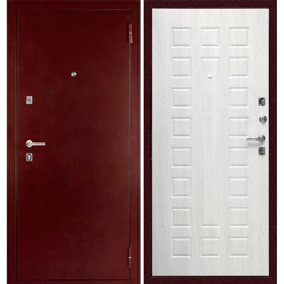 Входная металлическая дверь «C-504» (беленый дуб)