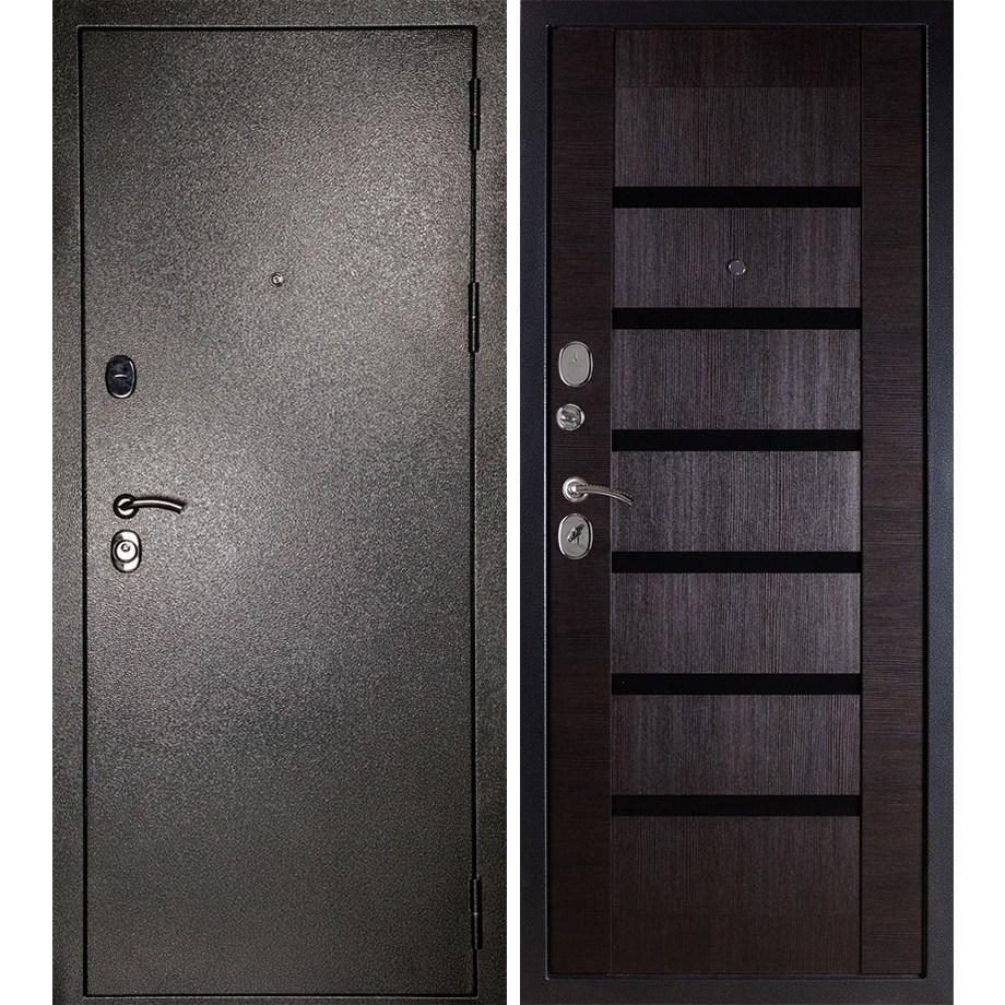 Входная металлическая дверь «МД-05» (темный орех)
