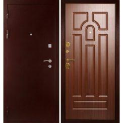 Входная металлическая дверь «МД-09» (орех тисненый)
