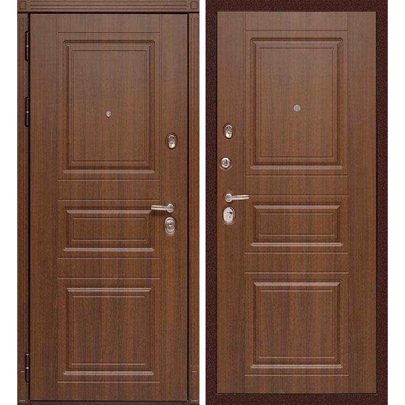 Входная металлическая дверь «МД-25» (орех бренди)