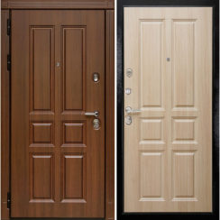 Входная металлическая дверь «МД-43» (дуб Филадельфия)