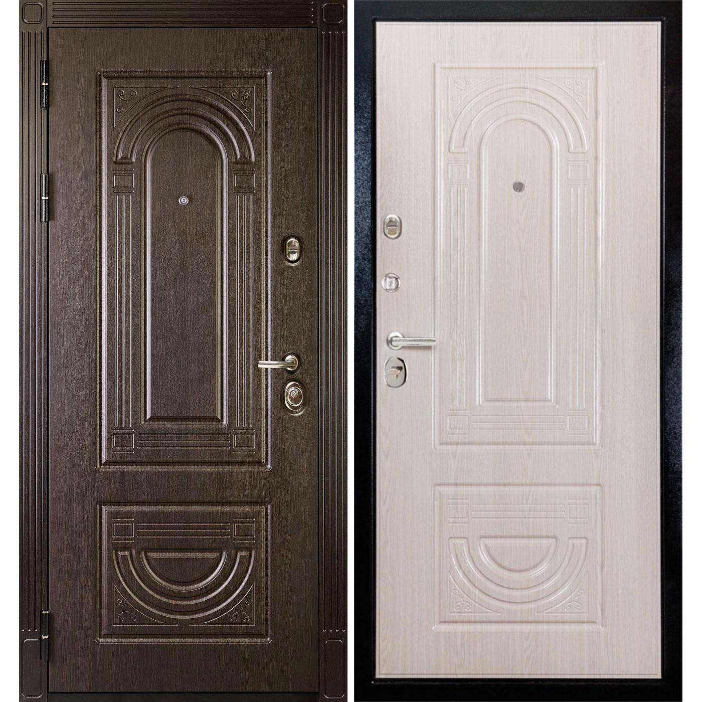 Входная металлическая дверь «МД-46» (дуб Филадельфия)