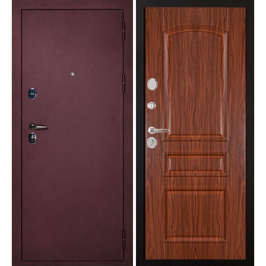 Входная металлическая дверь «Сударь-3» (орех тисненый)