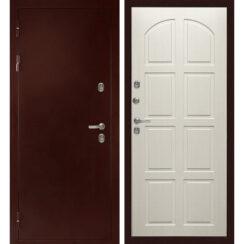 Уличная металлическая дверь «МД-101» (лиственница)