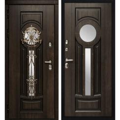 Уличная металлическая дверь «Византия» (Алмон 28)