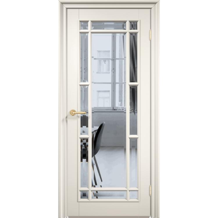 Межкомнатная дверь эмаль классика премиум «Англия 13» (со стеклом)