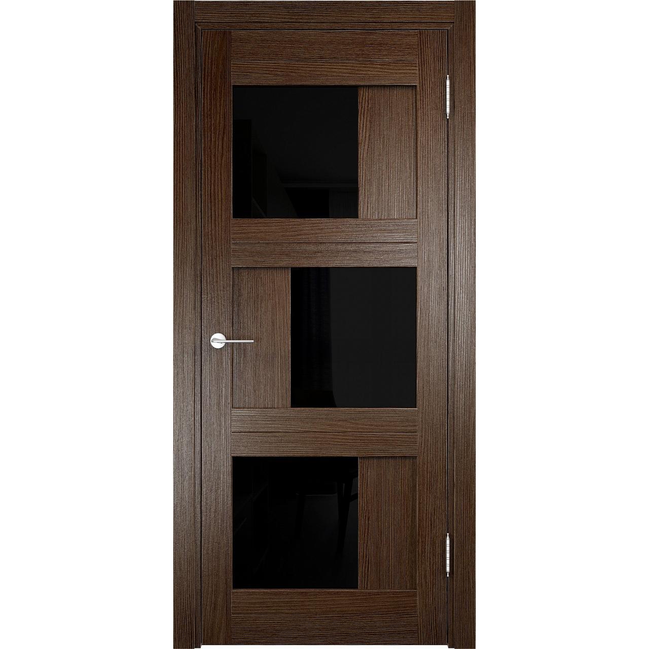 Дверь «Eldorf Баден 10 ДО» с 3D покрытием лакобель чёрное