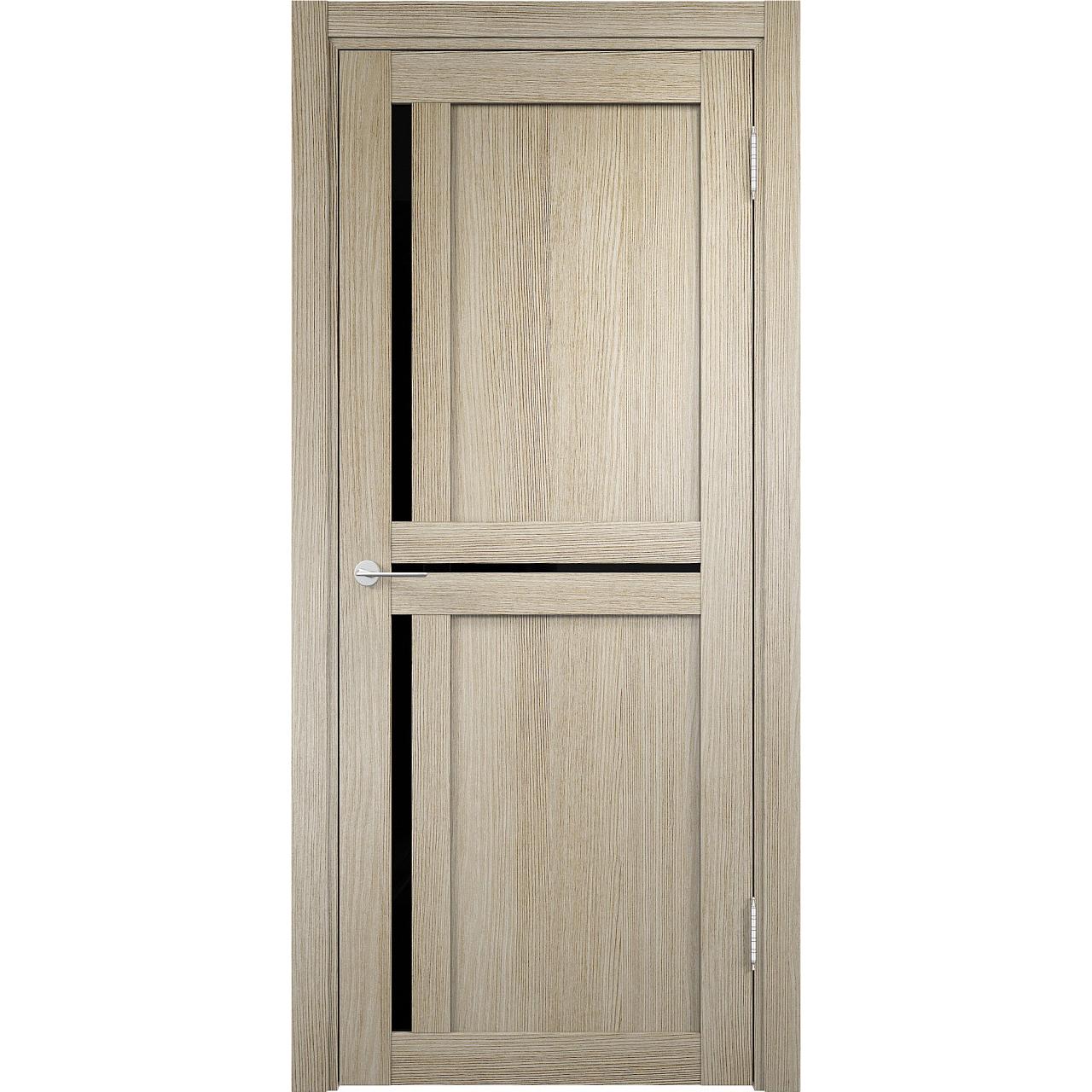 Дверь «Eldorf Берлин 1 ДО» с 3D покрытием лакобель чёрное