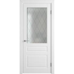 Межкомнатная дверь эмаль классика фреза «Челси 04» (со стеклом)