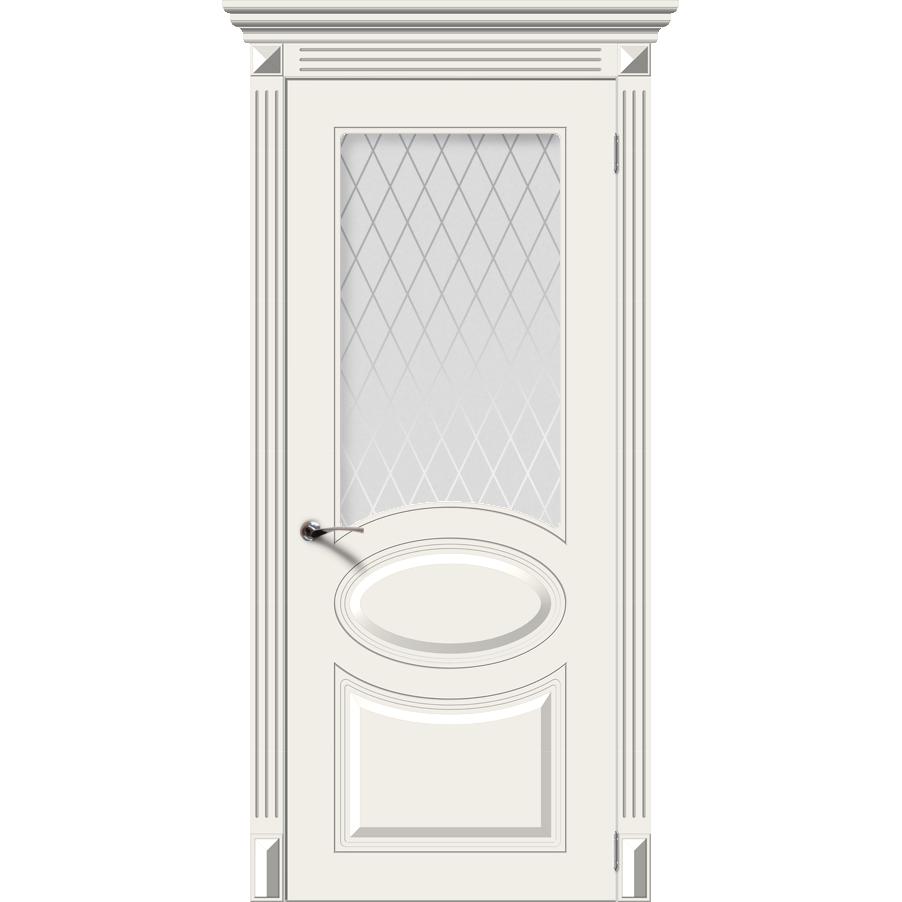 Межкомнатная дверь эмаль классика «Джаз» (со стеклом)
