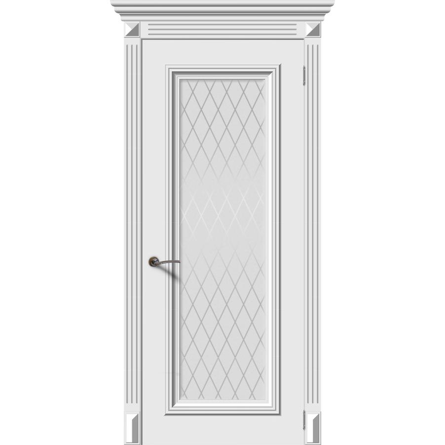 Межкомнатная дверь эмаль классика «Эмма 4» (со стеклом)