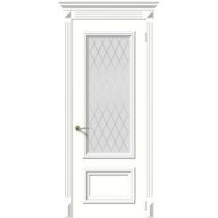 Межкомнатная дверь эмаль классика «Эмма 1» (со стеклом)