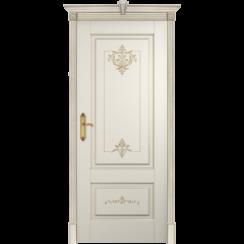 Межкомнатная дверь эмаль классика патина «Флоранс» (глухая)