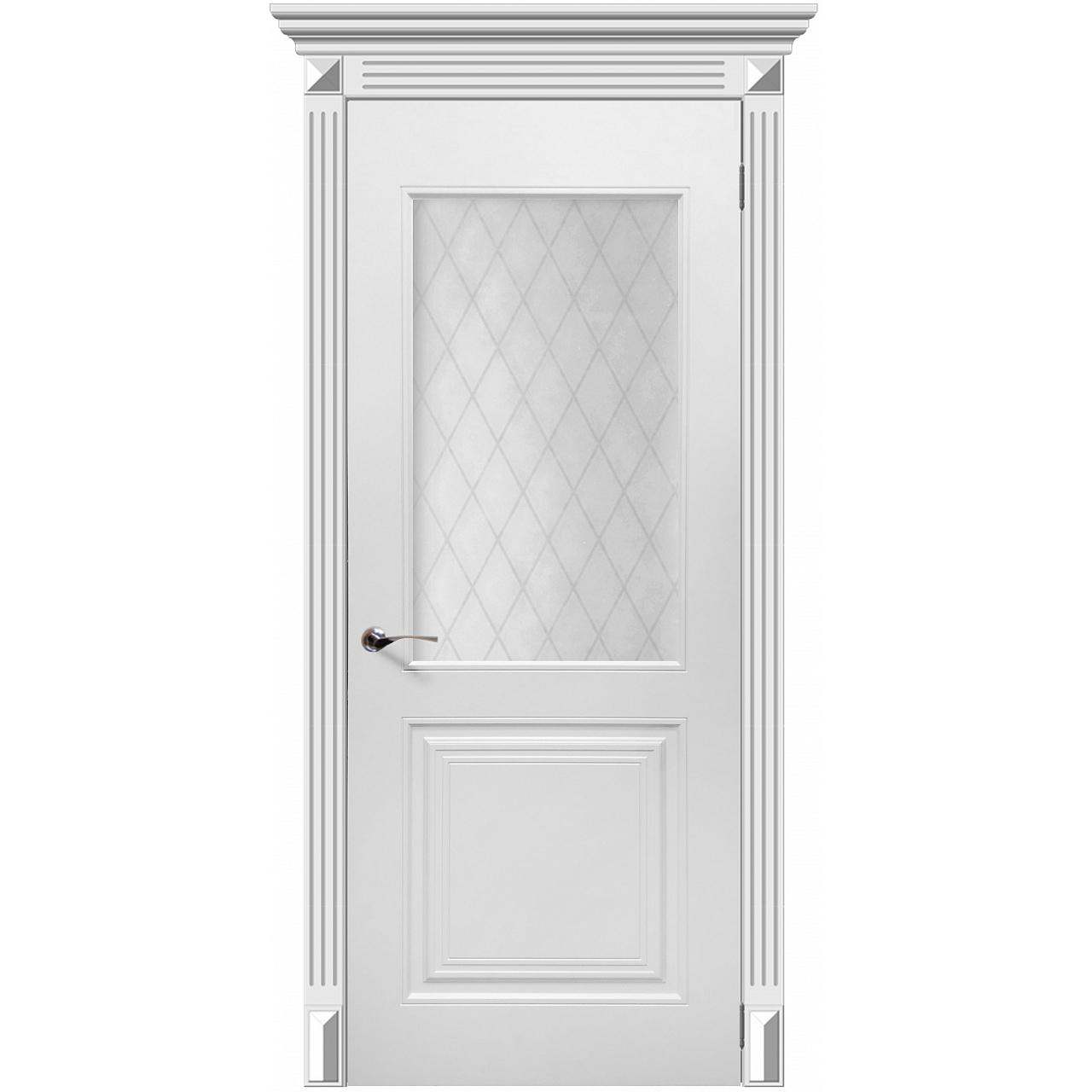 Межкомнатная дверь эмаль классика фреза «Форте» (со стеклом)
