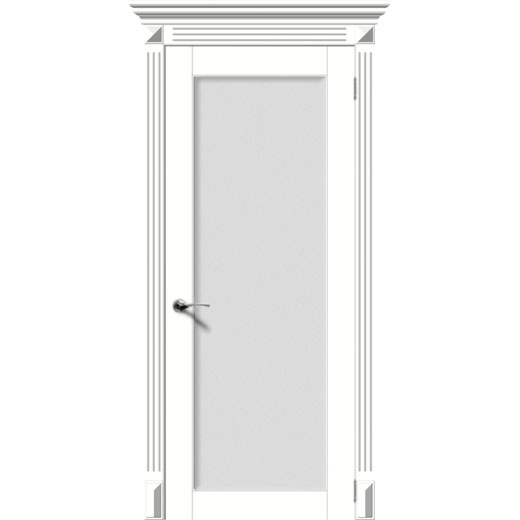 Межкомнатная дверь эмаль классика фреза «Гармония-Н» (со стеклом)