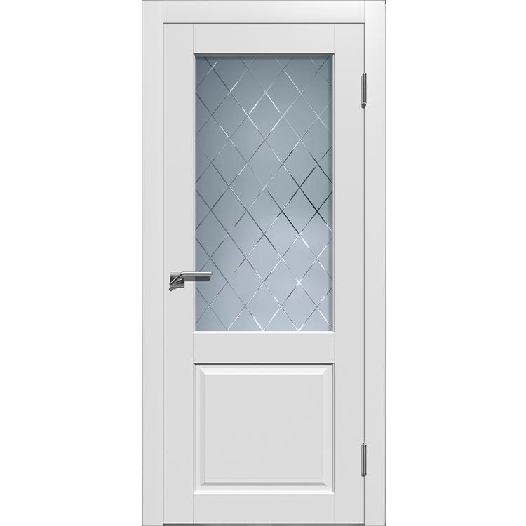 Межкомнатная дверь эмаль классика премиум «Гранд 2» (со стеклом)