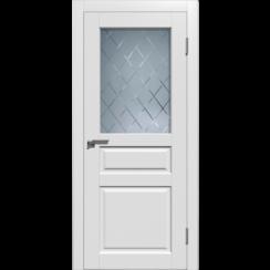 Межкомнатная дверь эмаль премиум «Гранд 3» (со стеклом)