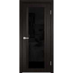 Межкомнатная дверь экошпон K-11 лакобель чёрное