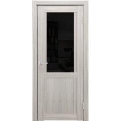 Межкомнатная дверь экошпон K-12 лакобель чёрное