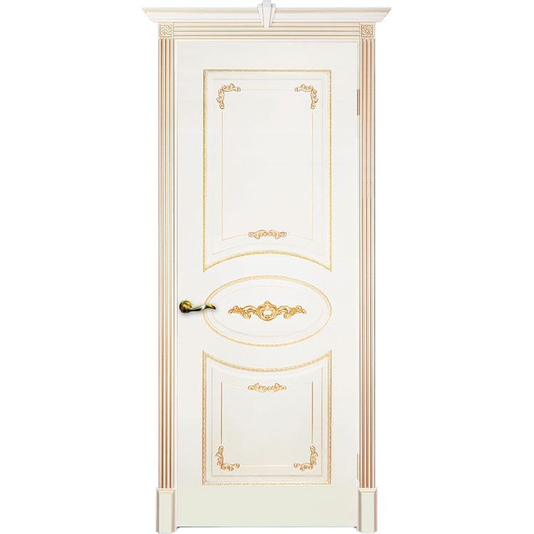 Межкомнатная дверь эмаль классика патина «Камелия» (глухая)