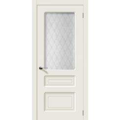 Межкомнатная дверь эмаль классика «Капри» (со стеклом)