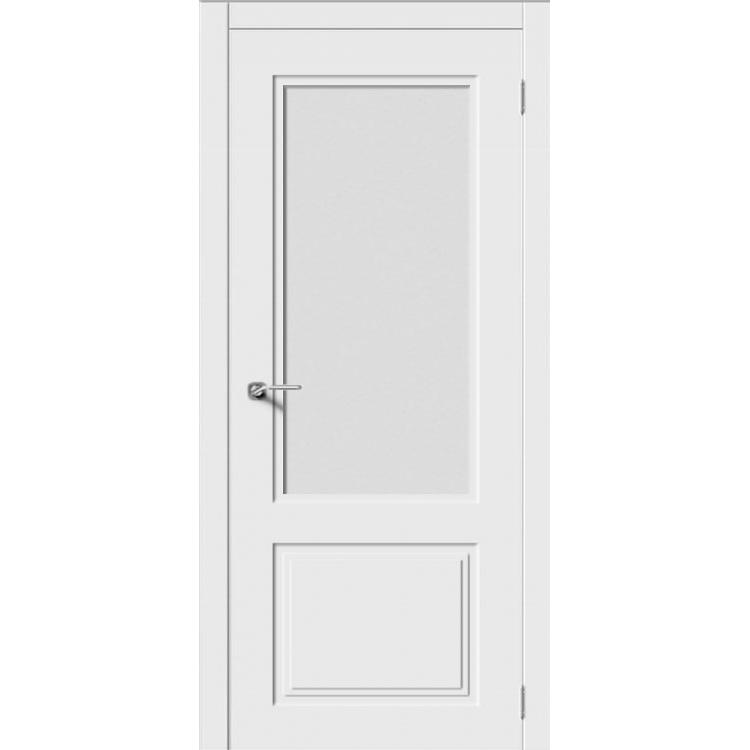 Межкомнатная дверь эмаль неоклассика «Квадро-2» (со стеклом)