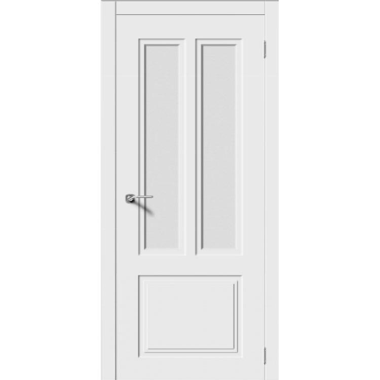 Межкомнатная дверь эмаль неоклассика «Квадро-3» (со стеклом)