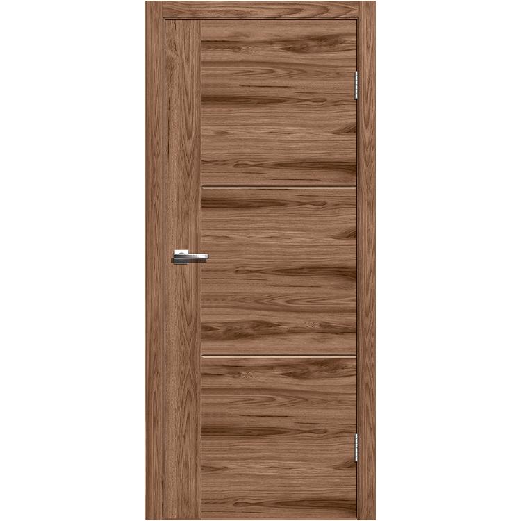 """Межкомнатная дверь экошпон """"Лестер 1 Американский орех"""""""