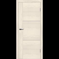 """Межкомнатная дверь экошпон """"Лестер 1 Ясень белый"""""""