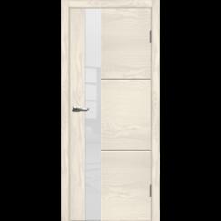 """Межкомнатная дверь экошпон """"Лестер 2 Ясень Белый"""""""