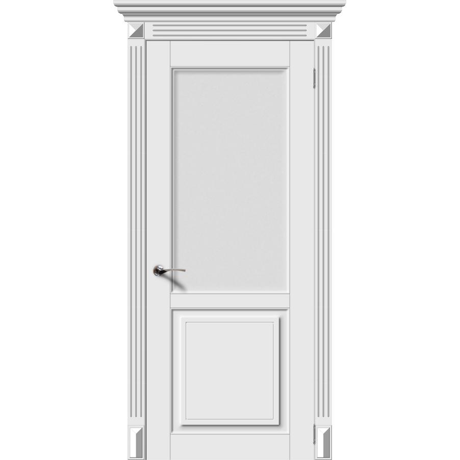 Межкомнатная дверь эмаль классика фреза «Лира-Н» (со стеклом)