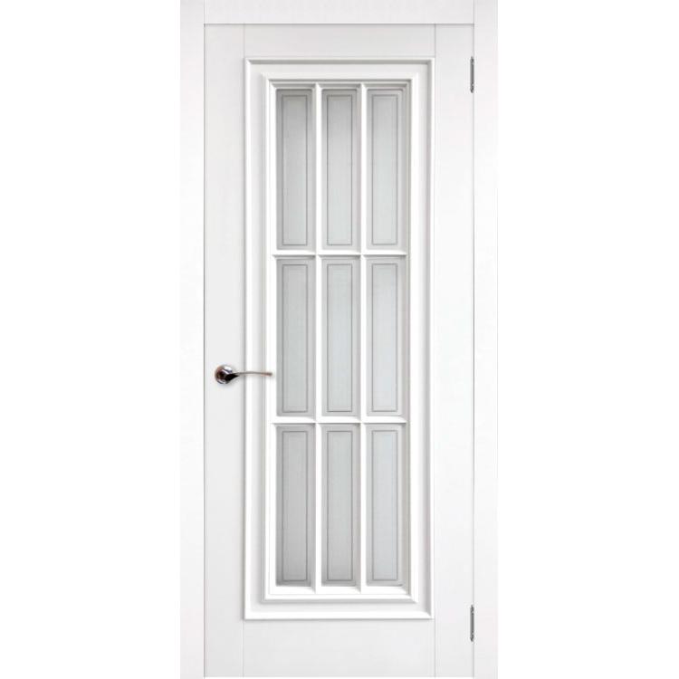 Межкомнатная дверь эмаль классика патина «Модена» (со стеклом)
