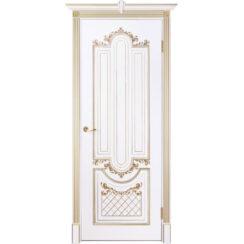 Межкомнатная дверь эмаль классика патина «Муар» (глухая)
