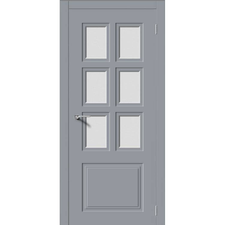 Межкомнатная дверь эмаль неоклассика «Квадро-1» (со стеклом)