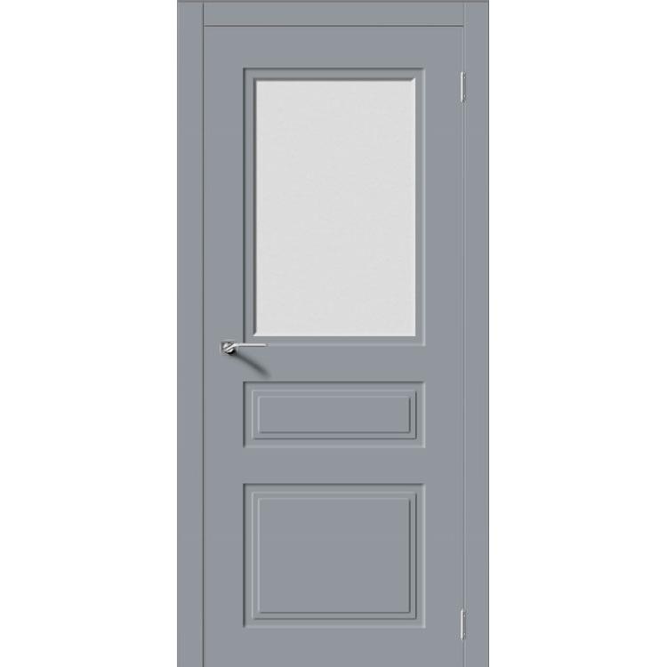 Межкомнатная дверь эмаль неоклассика «Квадро-4» (со стеклом)