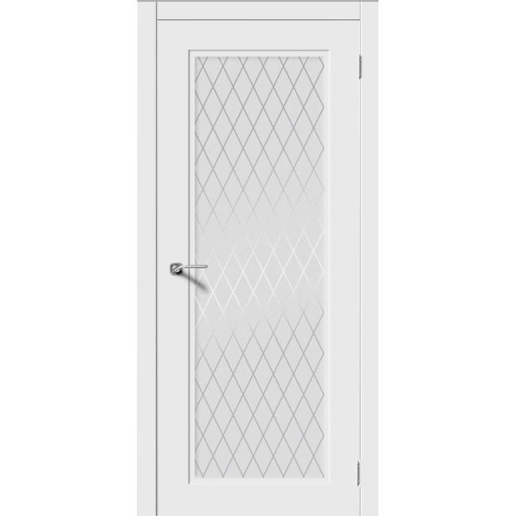 Межкомнатная дверь эмаль неоклассика «Рондо-Н» (со стеклом)