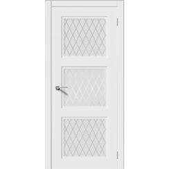 Межкомнатная дверь эмаль неоклассика «Соната-Н» (со стеклом)