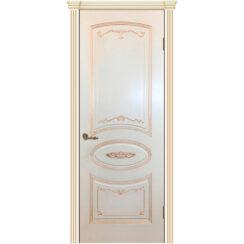 Межкомнатная дверь эмаль классика патина «Вуаль» (глухая)