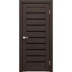 Межкомнатная дверь экошпон Х-2 лакобель чёрное