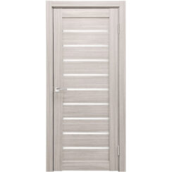 Межкомнатная дверь экошпон Х-2 стекло сатинато