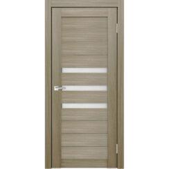 Межкомнатная дверь экошпон Х-6 стекло сатинато