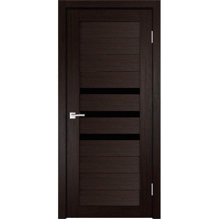 Межкомнатная дверь экошпон Х-6 лакобель чёрное