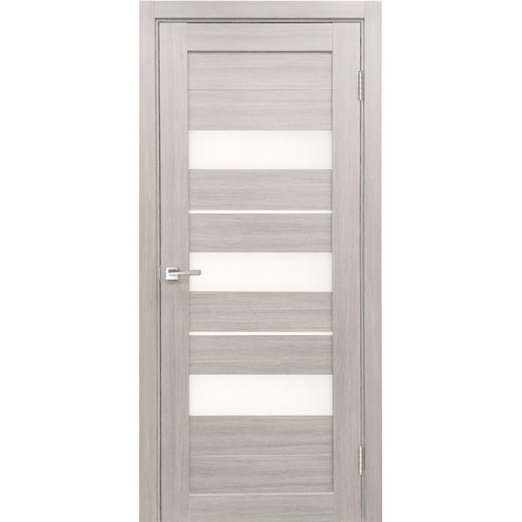 Межкомнатная дверь экошпон Х-7 стекло сатинато