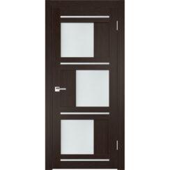 Межкомнатная дверь экошпон Z-2 стекло сатинато