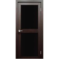 Межкомнатная дверь экошпон Z-6 лакобель чёрное
