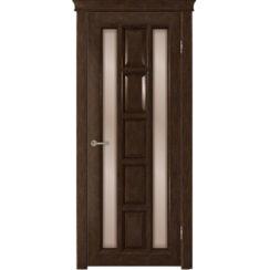 Межкомнатная дверь «Квадра» натуральный шпон (со стеклом)