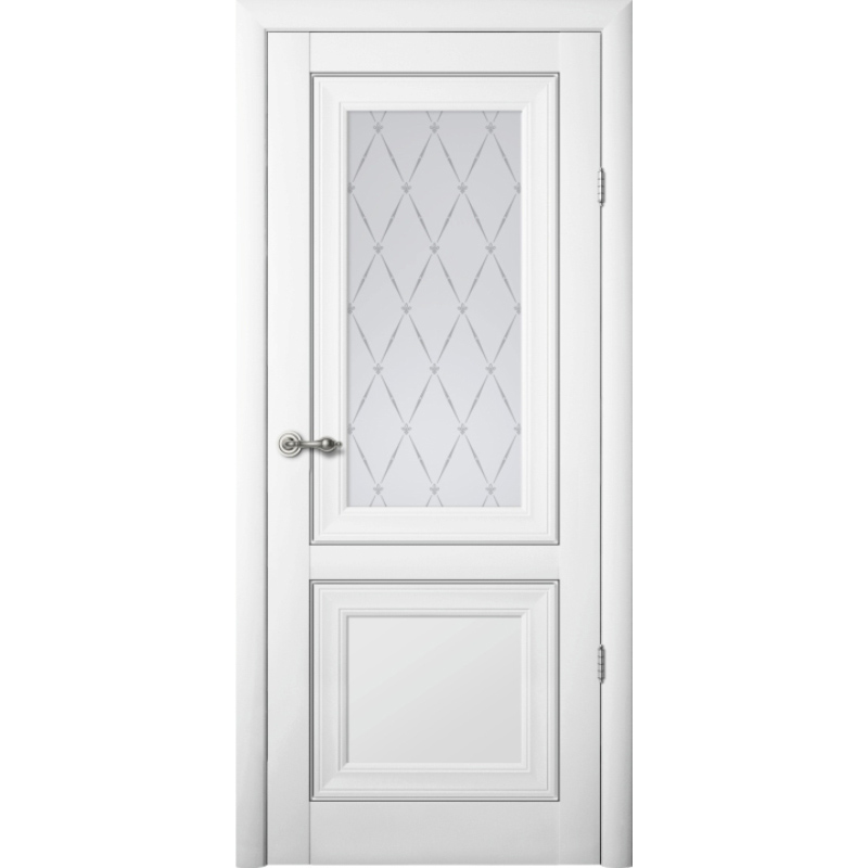 Межкомнатная дверь винил «Прадо» (со стеклом)
