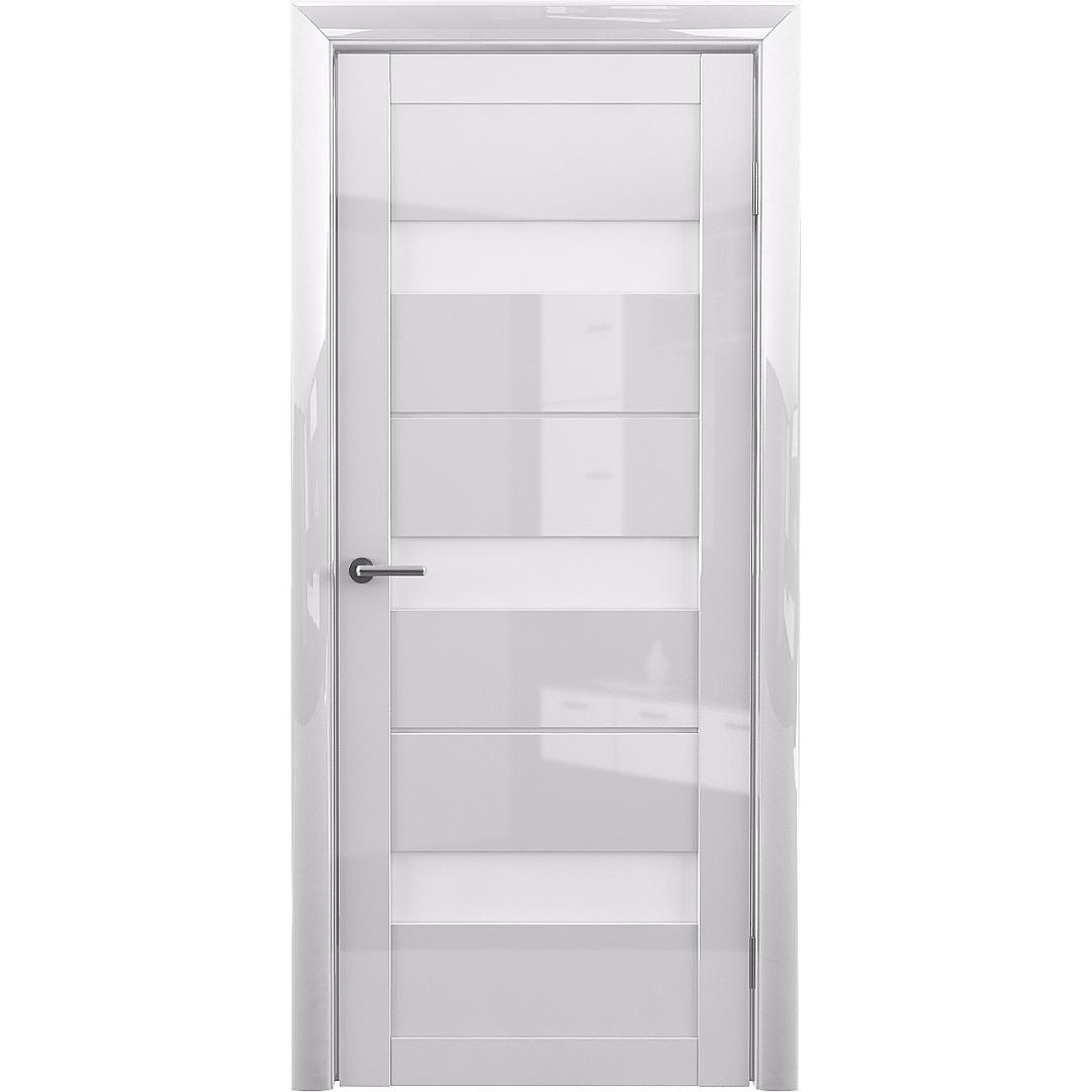Межкомнатная дверь винил «Прага глянец» (стекло метелюкс)